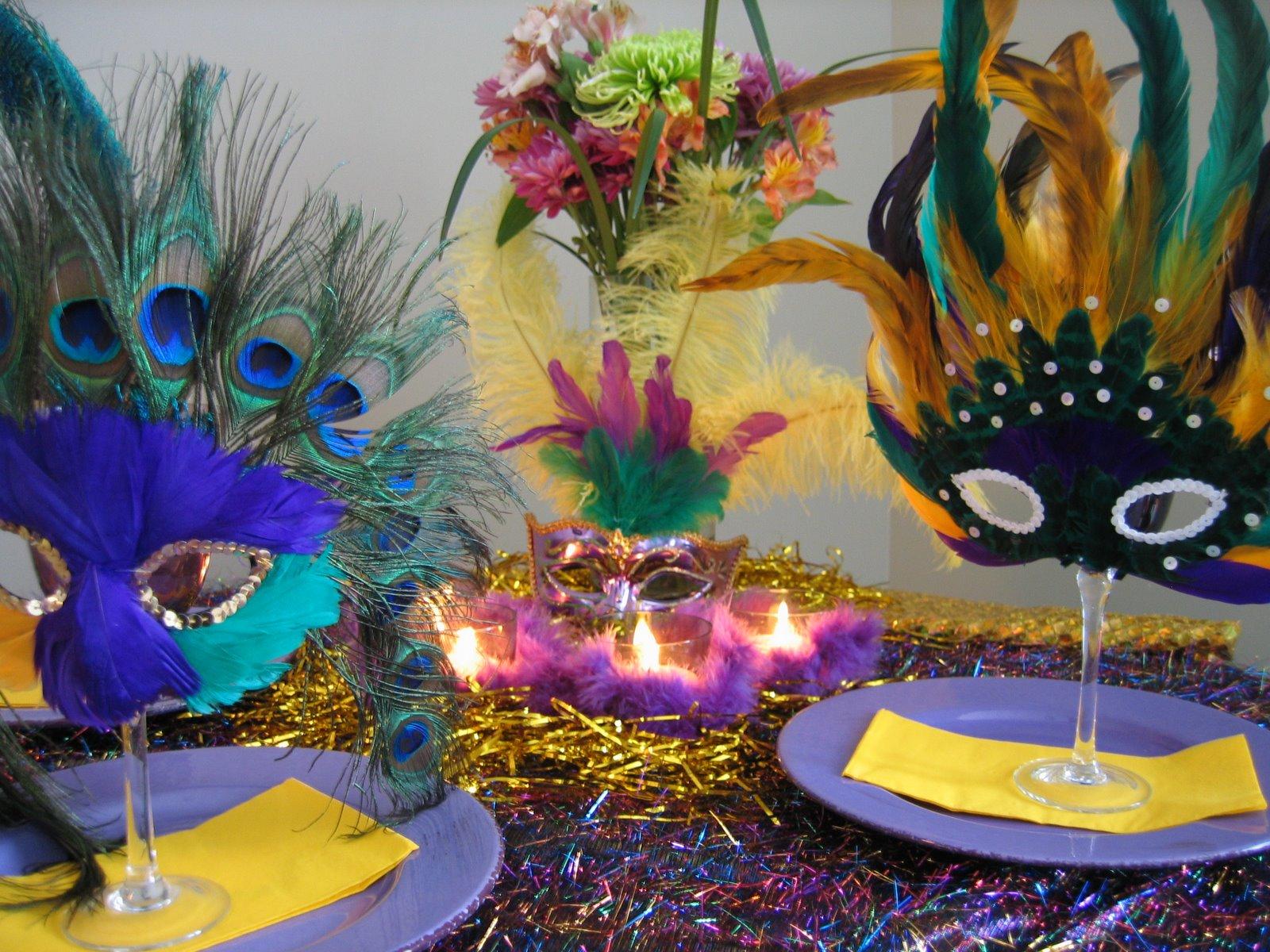 Mardi gras table setting ideas oh my creative - Decorare la tavola per carnevale ...