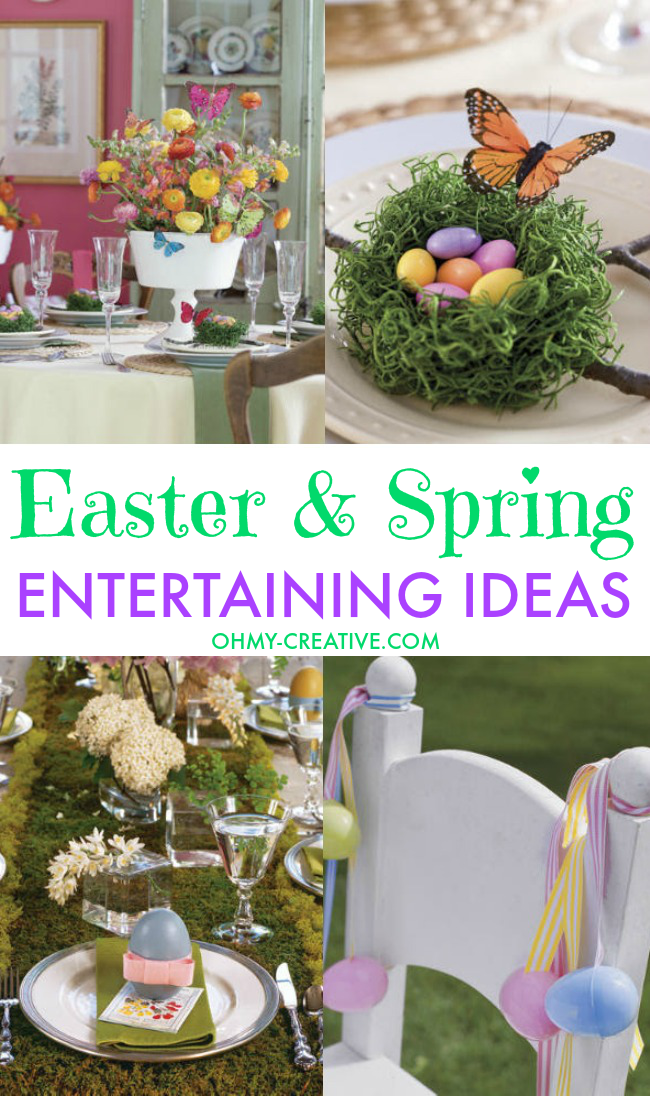 Easter & Spring Entertaining Ideas | OHMY-CREATIVE.COM