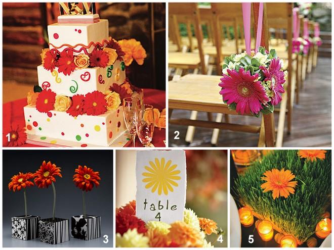 Gerbera Daisy Party and Wedding Ideas     OHMY-CREATIVE.COM