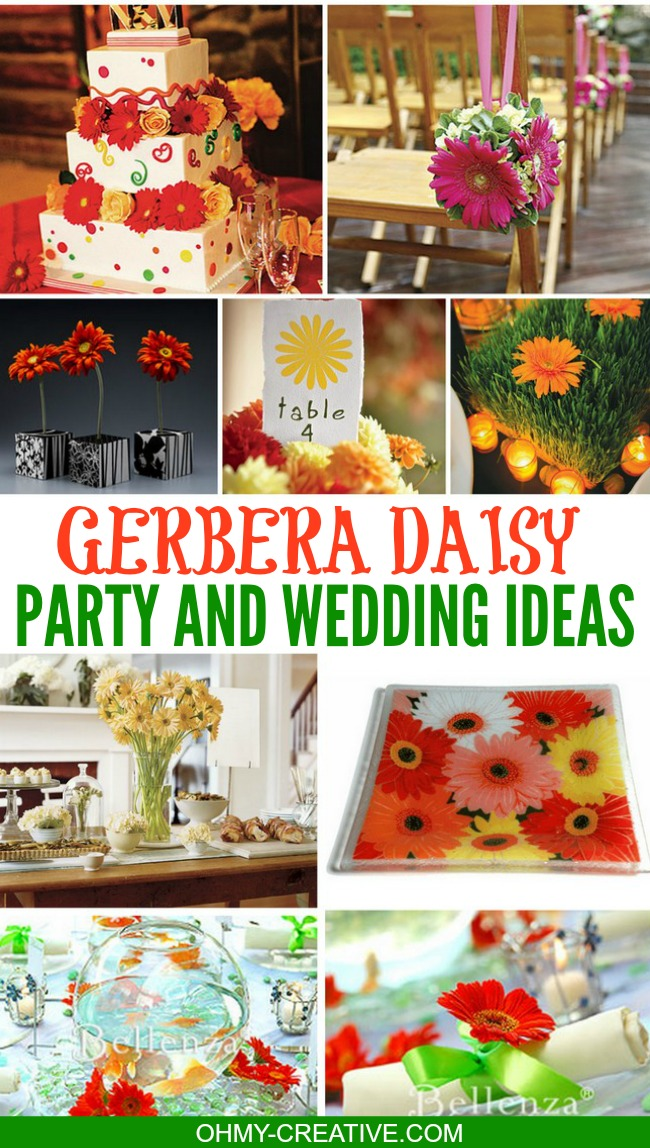 Gerbera Daisy Party and Wedding Ideas | OHMY-CREATIVE.COM