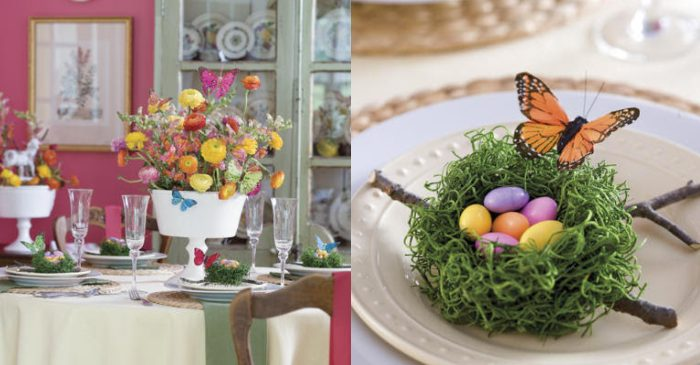 butterfly Easter table decor ideas