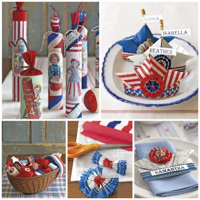 How to create vintage or handmade Fourth of July decorations     OHMY-CREATIVE.COM