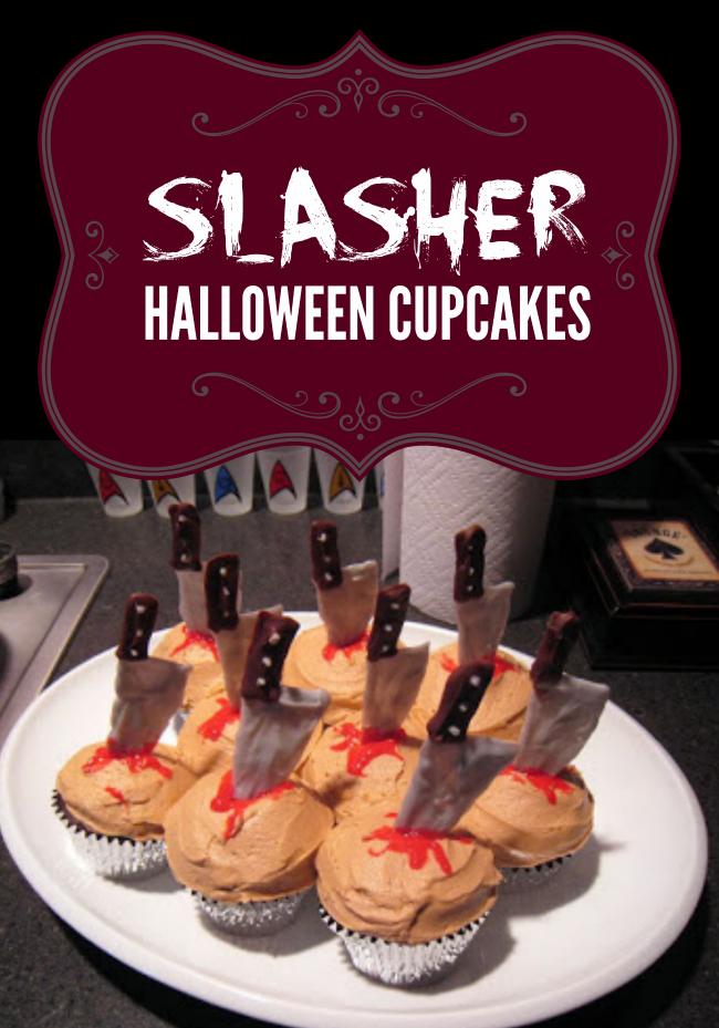 Slasher Halloween Cupcakes