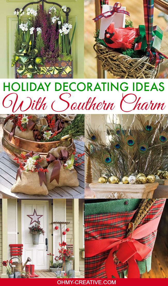 Pretty Holiday Decorating Ideas With Southern Charm | OHMY-CREATIVE.COM