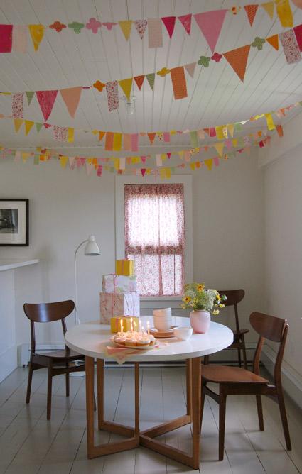 DIY party garland