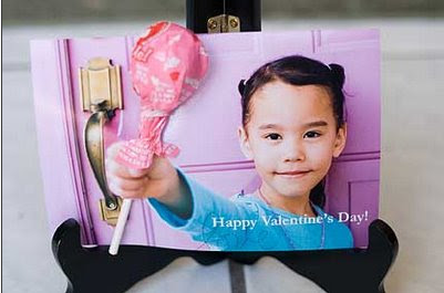 Lollipop Photo Valentine's Day Card
