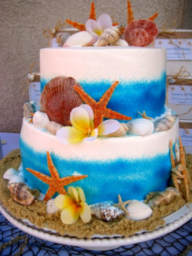 Large Starfish Cake Decorations
