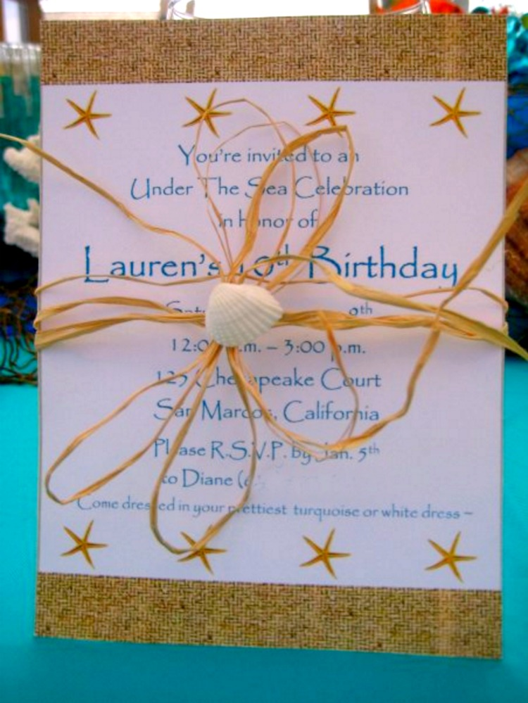 Create a splash with this Under The Sea Party Birthday Party! Including Fish bowl centerpieces, starfish cupcakes, table styling, cake and Under the Sea Party Invitations! A great Under the Sea Birthday Party Ideas for kids and teens!