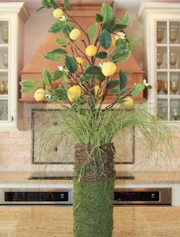 Lemon Spring Centerpiece and Home Decor