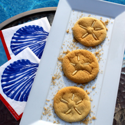 Pool Party – Sand Dollar Cookies