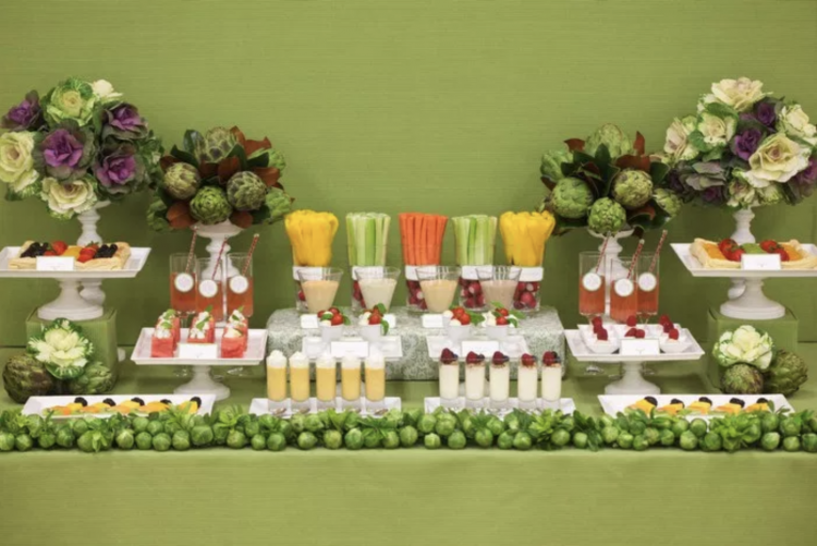 Party Fruit and Veggie Table | Party Fruit and Veggie Bar | Appetizer Table