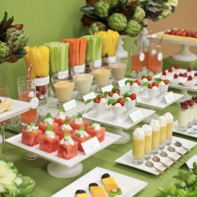 Fruit And Veggie Table Bar