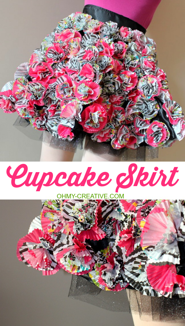 A creative inspiration skirt made from Cupcake Liners  |  OHMY-CREATIVE.COM