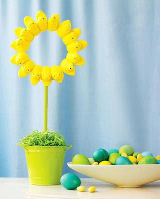 Peep Sunflower Topiary