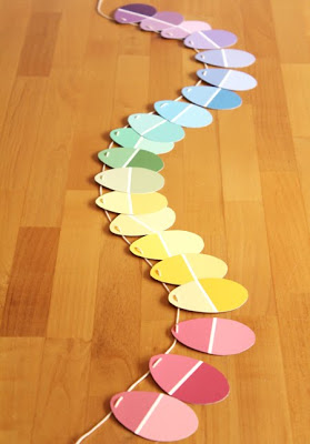 Easy Easter Garland With Paint Chips