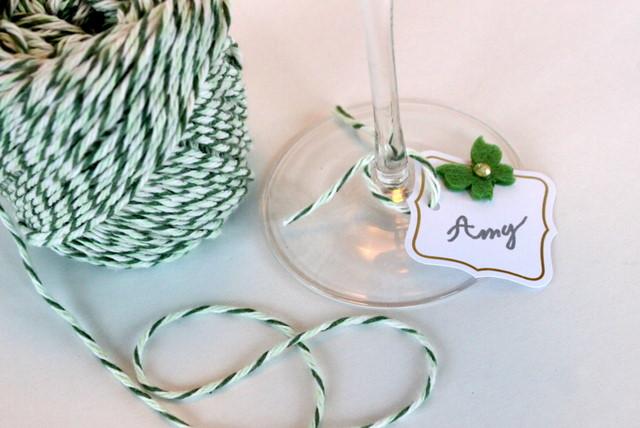 DIY Elegant Party Wine Charms