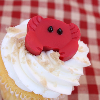 Candy Crab Cupcake Toppers – Beach/Nautical Party Theme
