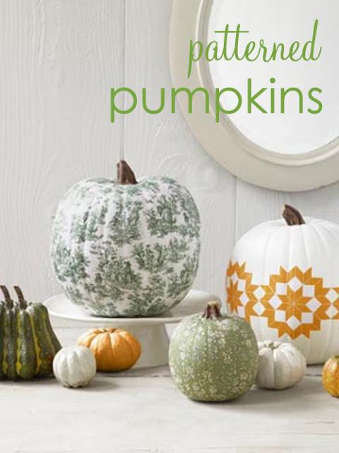 Fabric Patterned Pumpkins