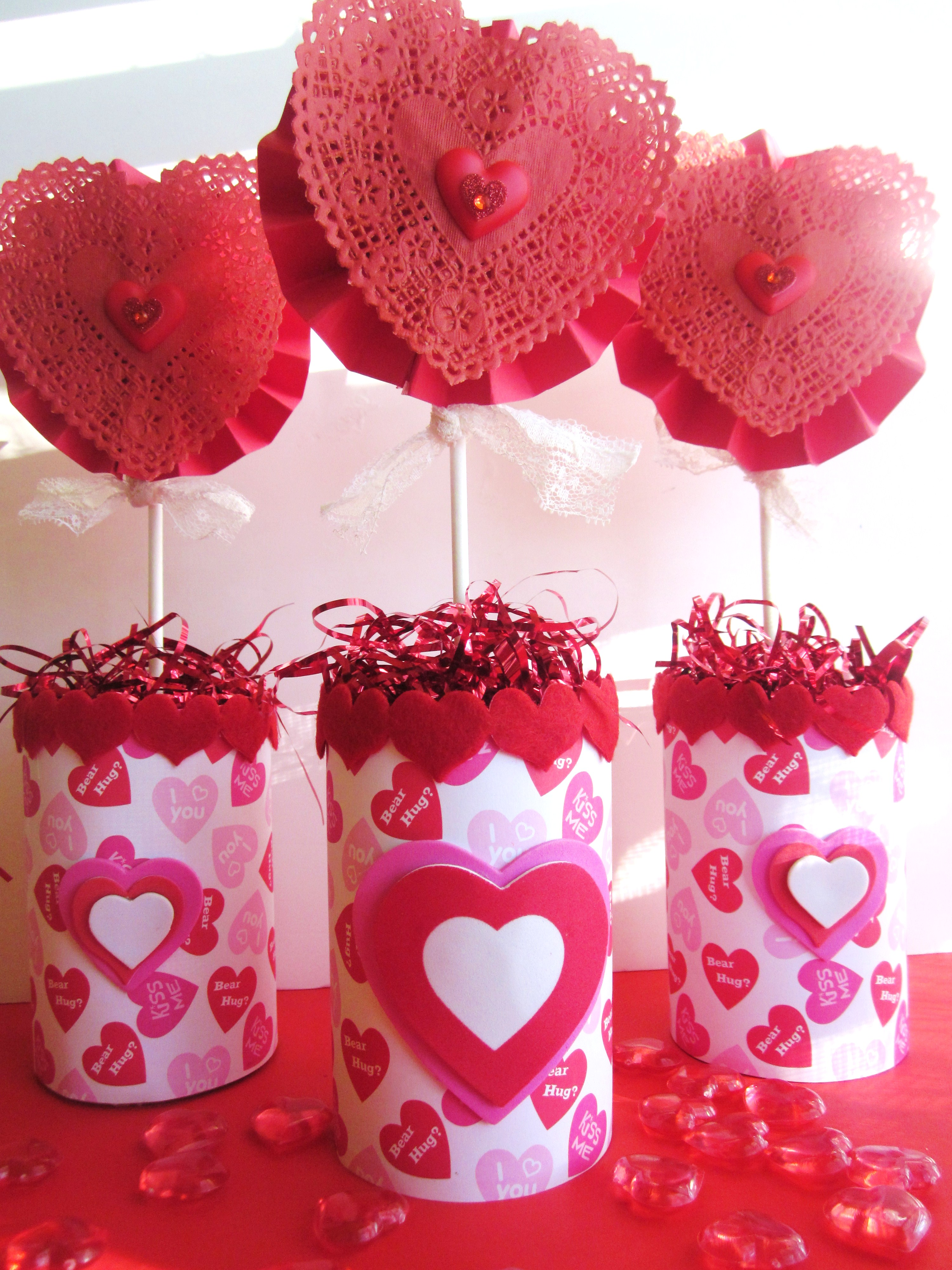 Can Of Hearts Valentine's Centerpiece