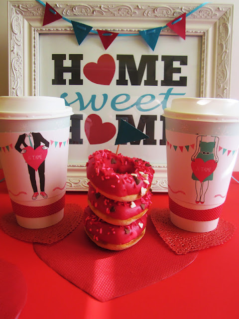 Valentines Morning Coffee & Donuts