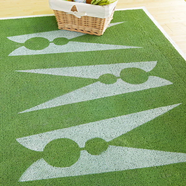 Stencil Laundry Room Rug  Oh My Creative