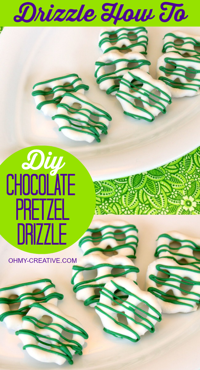 How to make chocolate drizzle pretzels  |  OHMY-CREATIVE.COM