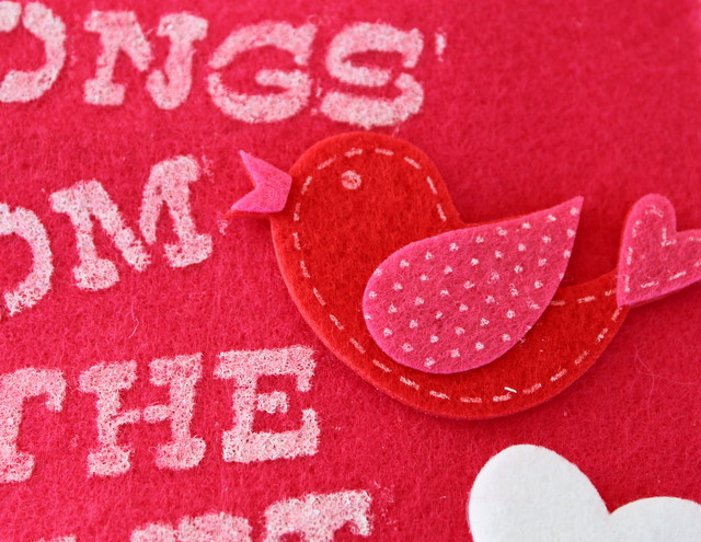 Diy Felt Valentine's Day Card
