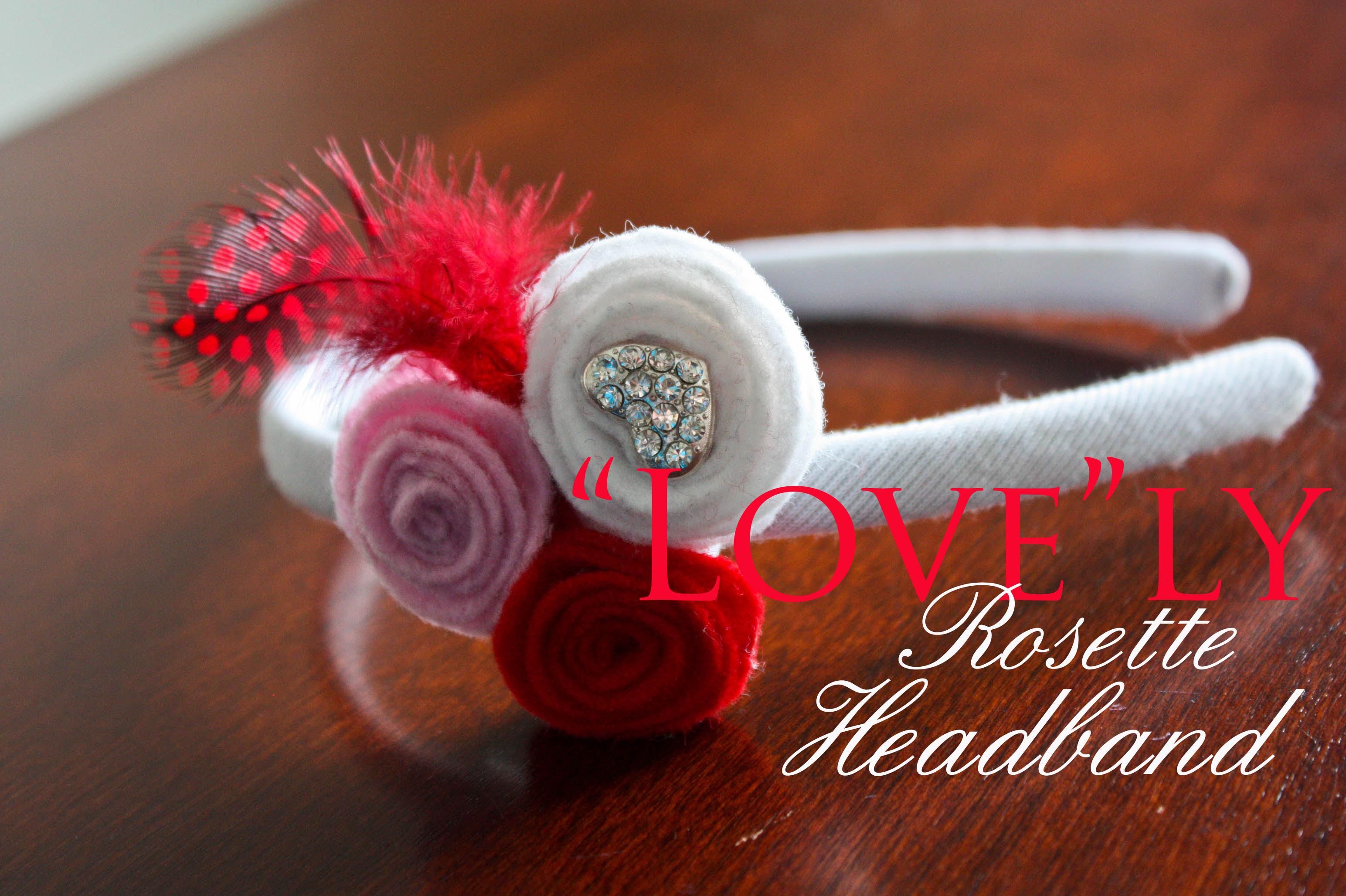 """Love""ly Rosette Headband"