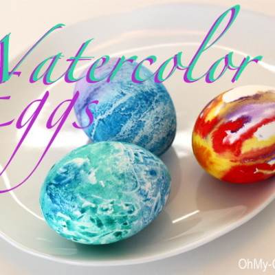Watercolor Easter Eggs – A New Way To Decorate Eggs