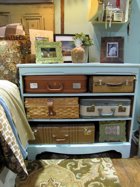 Double dresser converted into a night stand painted home designs