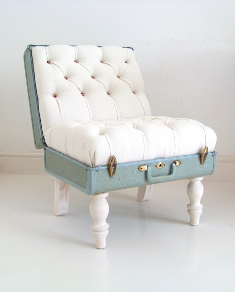 Suitcase chair recreate