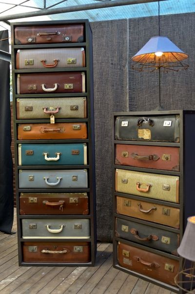 Vintage Suitcase Furniture included in these 20 DIY Vintage Suitcase  Projects and Repurposed Suitcases  Create20 DIY Vintage Suitcase Decorating Ideas    Oh My Creative. Diy Vintage Home Decor. Home Design Ideas