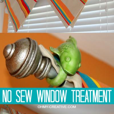 No Sew Window Treatment