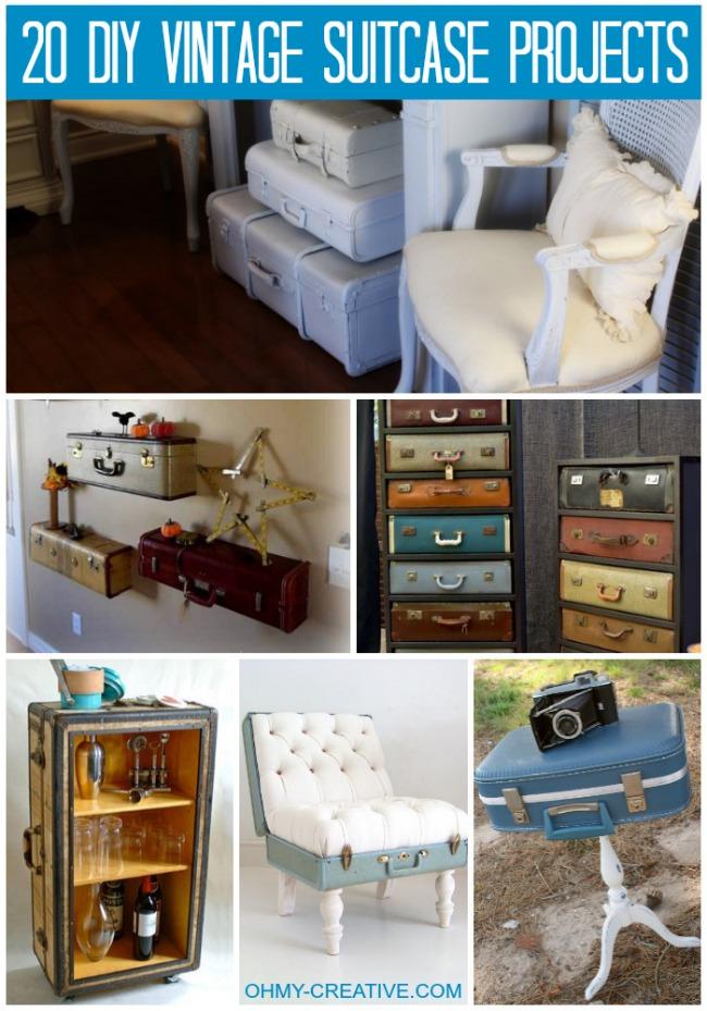 20+ DIY Vintage Suitcase Decorating Ideas!