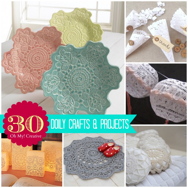 Christmas party decorations diy - 30 Diy Doily Crafts Oh My Creative