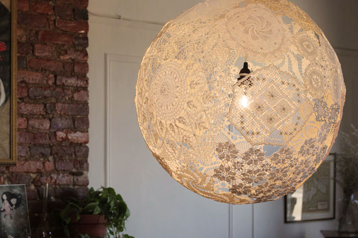 Doily Hanging Light