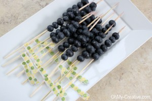 Blueberry skewers