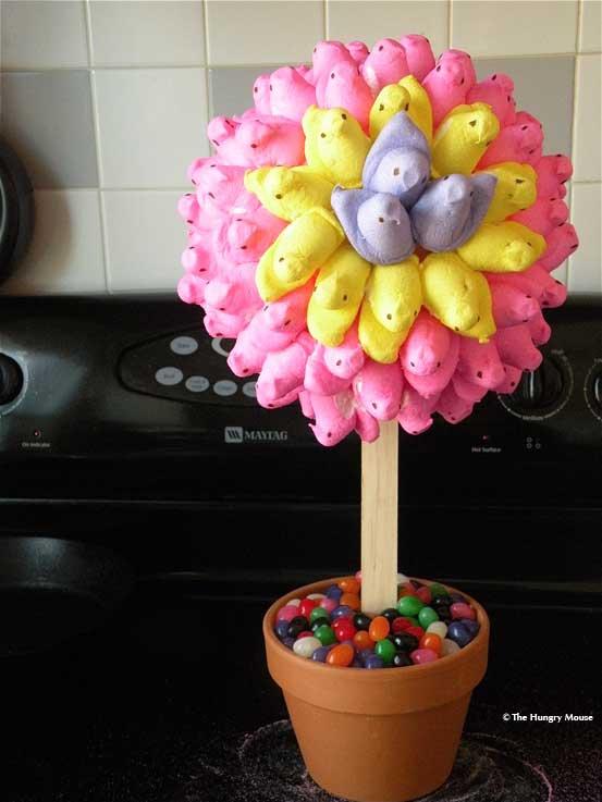 Easter Peeps Topiary