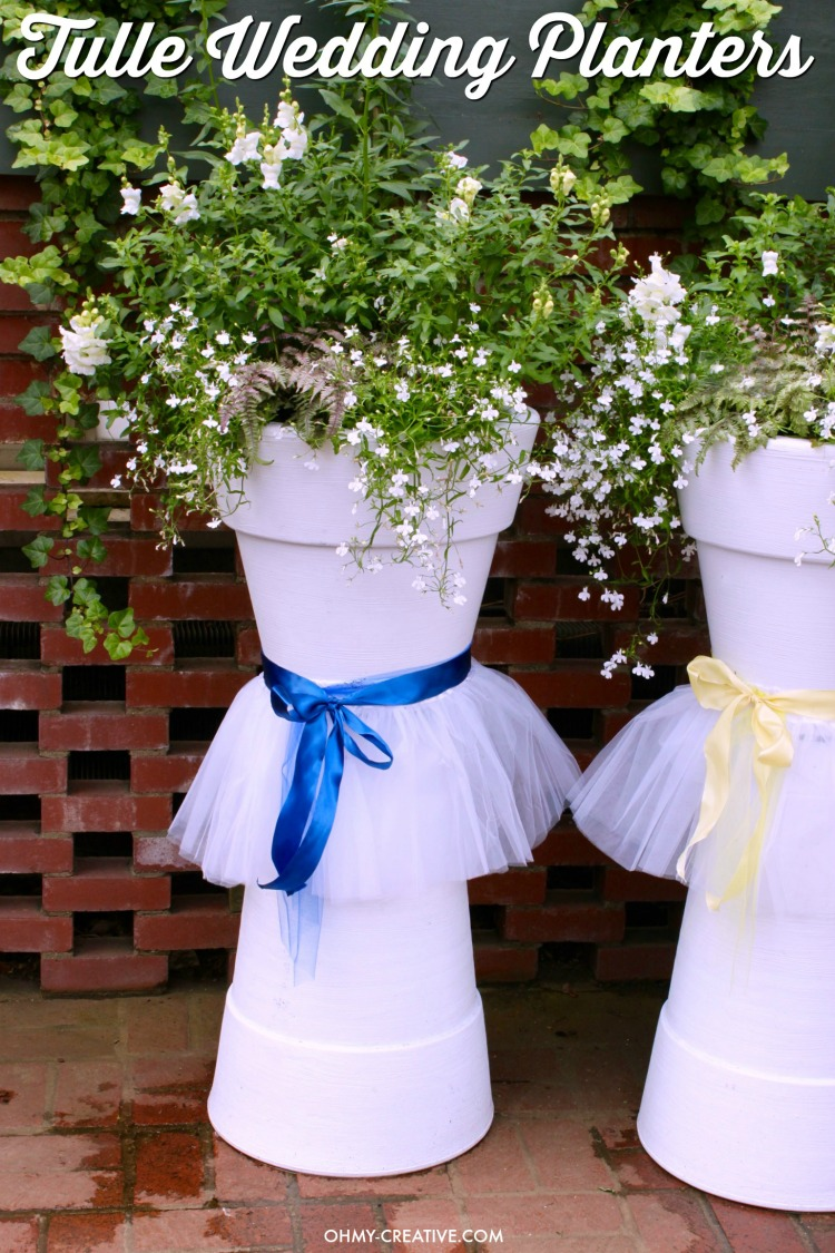 How Adorable Are These Tulle DIY Wedding Flower Pots For Weddings, Bridal  Showers Or Other