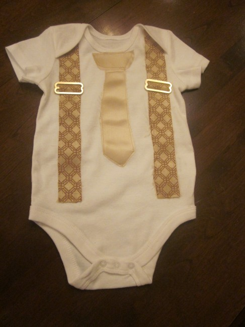 Custom wedding baby onesie
