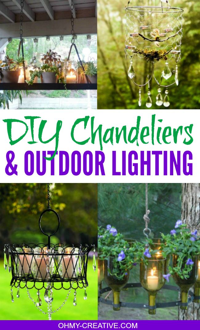 Pretty Do It Yourself Chandeliers & Outdoor Lighting Ideas  |  OHMY-CREATIVE.COM