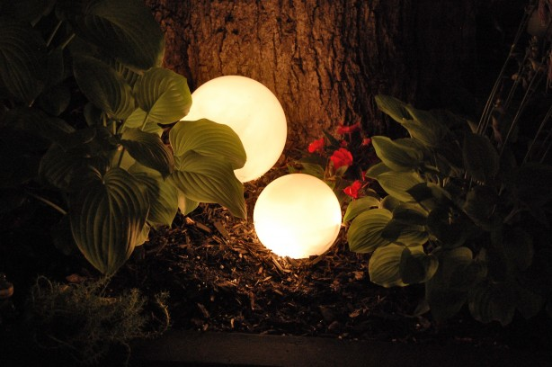 sphere globe outdoor lighting