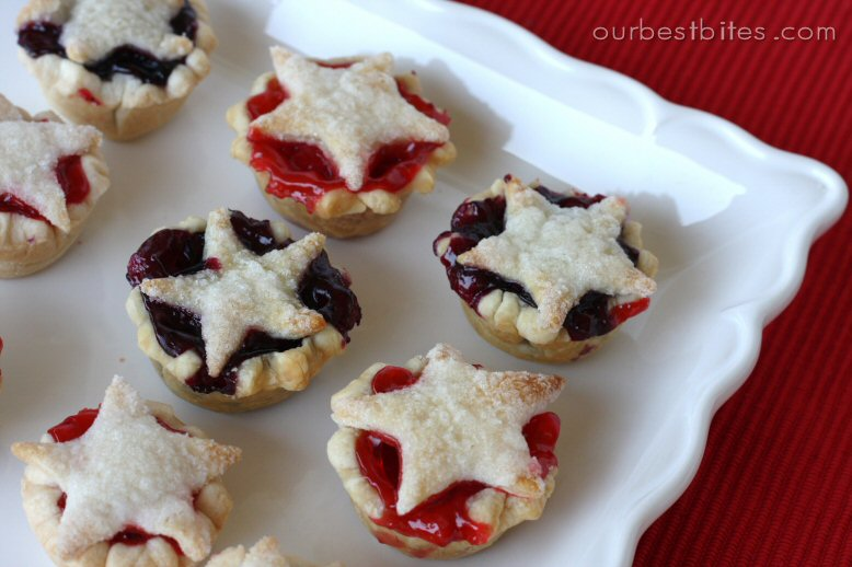 Fourth of july star pies
