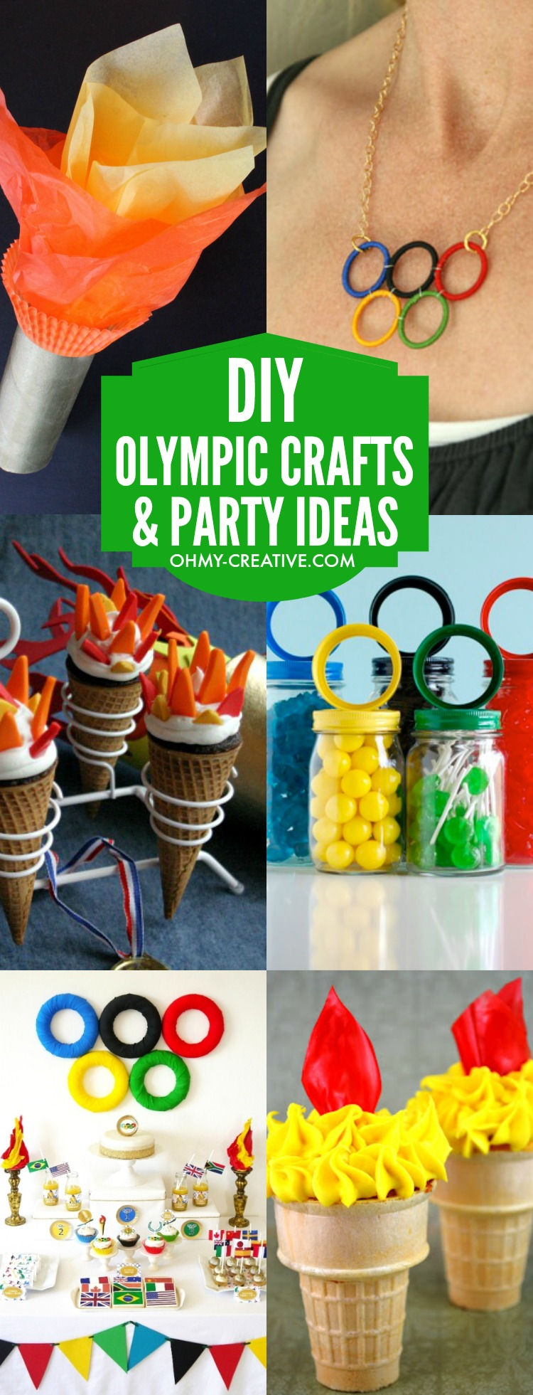 Diy olympic crafts and party ideas oh my creative for Crafts for birthday parties