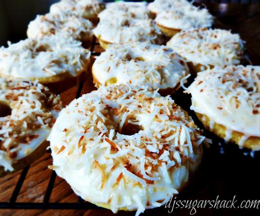 Pina Colada Doughnuts