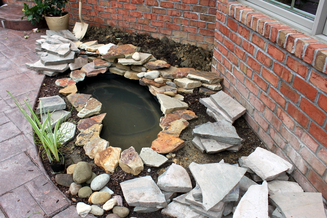 DIY BACKYARD POND & LANDSCAPE WATER FEATURE | OHMY-CREATIVE.COM