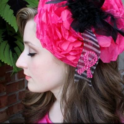 "Breast Cancer Fundraiser – Pink ""Royal"" Fascinator Hats"