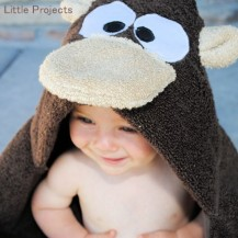 Monkey baby towel