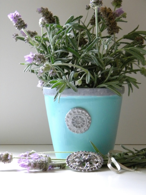 Inspired Blue Herb Pot