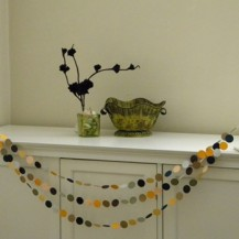 Halloween Black Crow Paper Garland